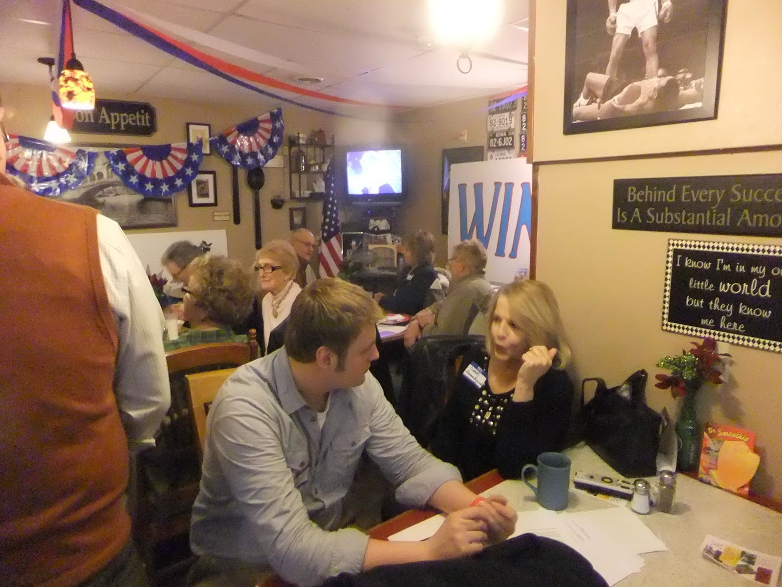 North Scott Co. SOTU Party - Welcoming the new guy