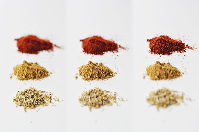 Oregano, Cumin, Chili Powder
