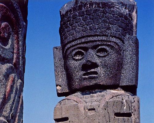volcanic stone face, Tula, Mexico