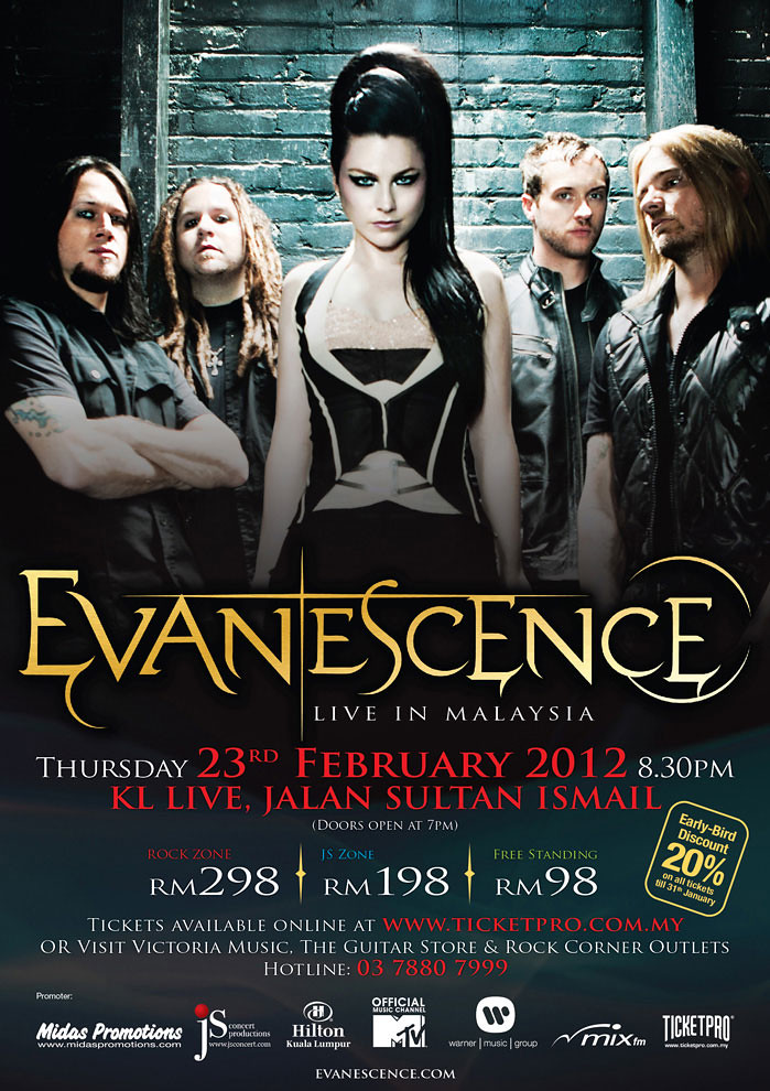 Evanescence Live In Malaysia 2012 | TianChad.com