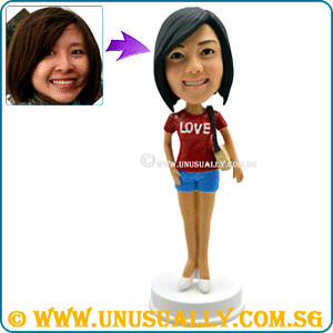 Custom 3D Sexy Lovely Casual Attire Female Figurine