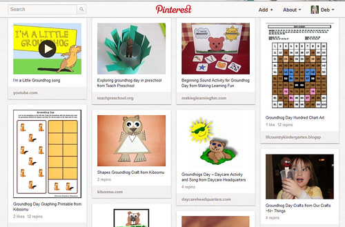 Pinterest - Kids' Groundhog Day Activities