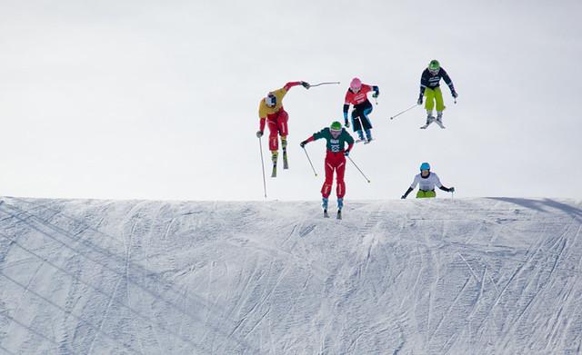 Skier X Course