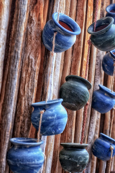 Blue Pots on Ocotillo
