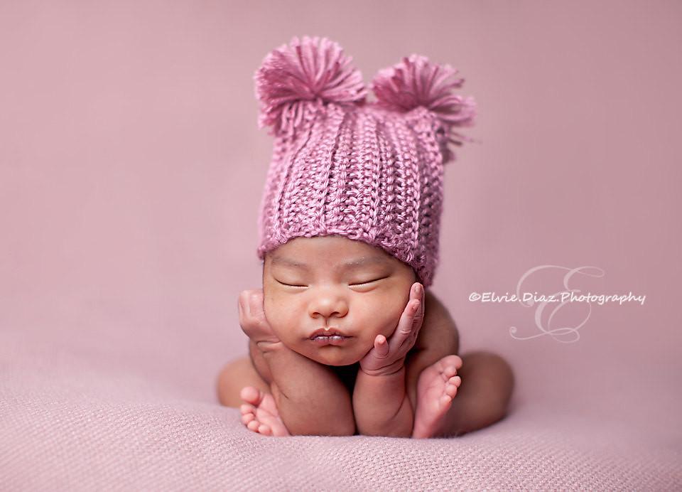 Newborn Baby Hat- Rose Crochet f21b021bfd68