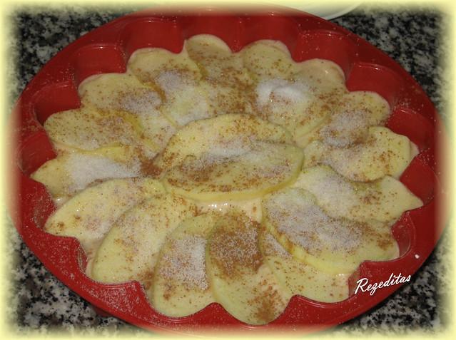 preparacion de tarta de manzana