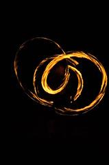 Twirling fire dancing
