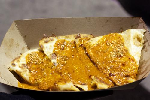 kimchi cheese quesadilla @ kogi truck