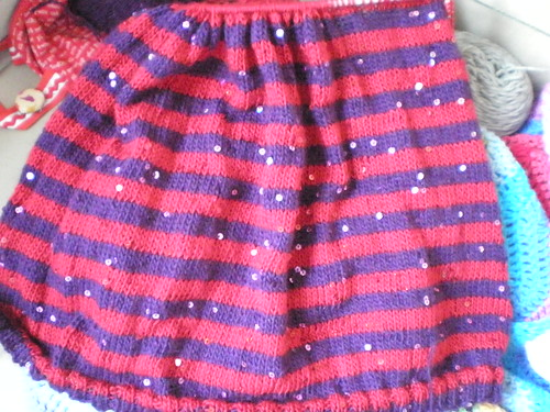 Stripy Sequinned Knitting