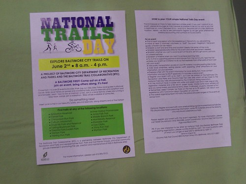 National Trails Day in Baltimore volunteer form