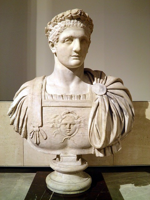 Bust of the Roman Emperor Domitian, from Italy, end of 1st century AD, Louvre Museum, Paris