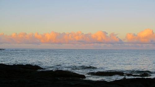 ocean morning sea sky beach water rock clouds sunrise hawaii lava polynesia coast waves horizon shoreline atmosphere shore coastline bigisland kona 2012 meteorology lavarock honaunau konacoast hawaiicounty southkona honaunaubay meteorlogy pacificoceanweather barryfackler barronfackler