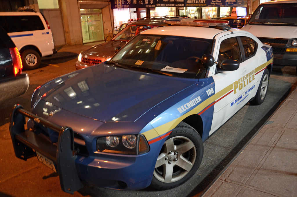 Dodge Charger From Portsmouth, Virginia PD Photographed In New York City On February 6, 2012