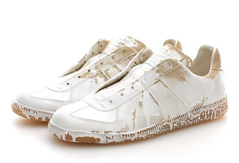 Maison Martin Margiela white painted sneakers