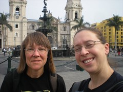Brenda & Clare in Lima at Plaza Armas