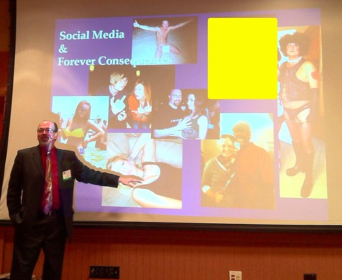 Colin Webb (Noble Public Schools) showing inappropriate Facebook photos at Oklahoma Technology Association Conference Feb 8, 2012