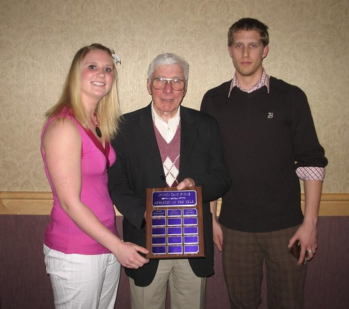 Sports Task Force Athletes of the Year - presented by Pat O'Brien - Kristi Spelay and Patrick Johnston