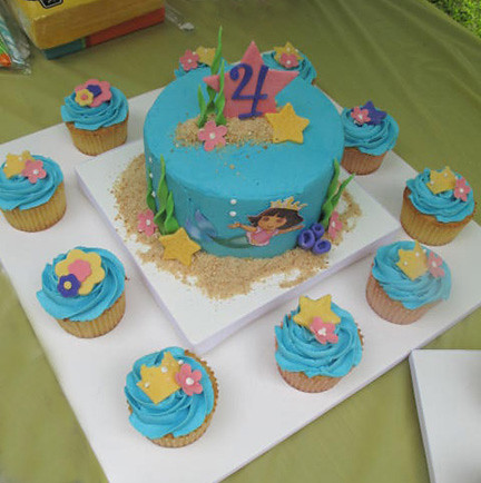 Dora Mermaid Cake Cupcakes Becky Currie Flickr
