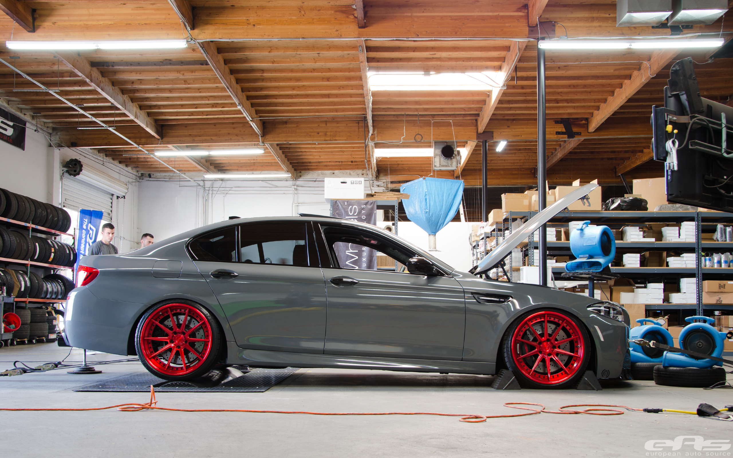 Battleship Gray F10 M5 On The Dyno Bmw Performance Parts