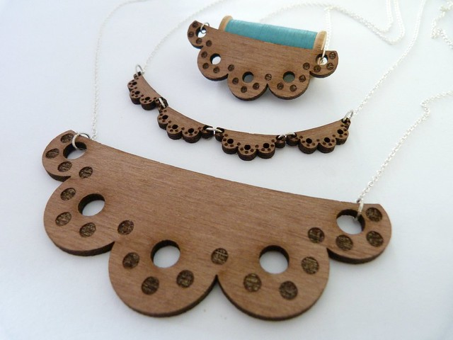 Laser cut 'Beryl' Necklaces