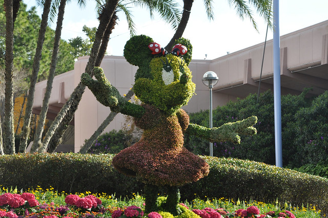 Minnie Mouse at Flower and Garden