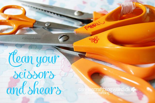 Clean scissors?