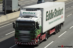 Scania G400 4x2 Tractor with 3 Axle Refrigerated Curtainside Trailer - PN60 YGP - Jay Michelle - Eddie Stobart - M1 J10 Luton - Steven Gray - IMG_7792