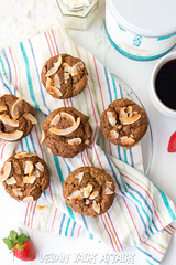 Strawberry Banana Nut Protein Muffins