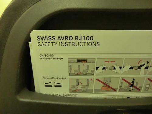 AVRO RJ100 (SWISS AIR)