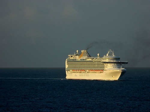 ocean cruise sea sky sun saint clouds sunrise island nikon ship martin smoke royal disney coolpix caribbean dcl flicker liner marteen l120