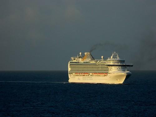 ocean cruise sea sky sun saint clouds sunrise island nikon ship martin smoke royal disney coolpix caribbean dcl flicker liner marteen l120