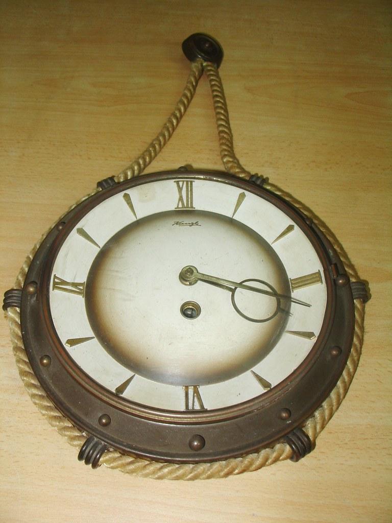 vintage wall clock kienzle working made in germany