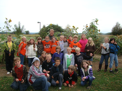 Garden manager Dave Langer poses with West Salem students in the school's garden which has become a source of pride for kids at the school.Garden manager Dave Langer poses with West Salem students in the school's garden which has become a source of pride for kids at the school.