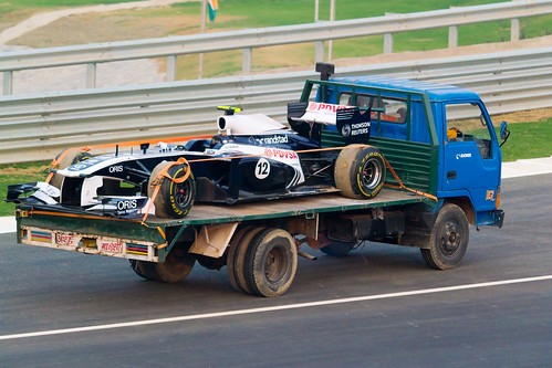 Towed Williams F1