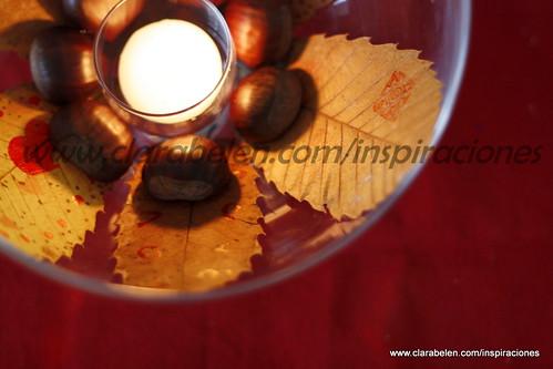 Inspiraciones manualidades y reciclaje ideas sencillas para hacer centros de mesas con hojas - Centros de mesa navidenos caseros ...