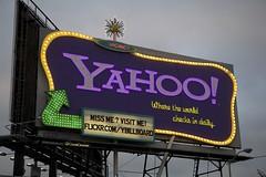 The Yahoo! Billboard Sign, San Francisco (at dusk)