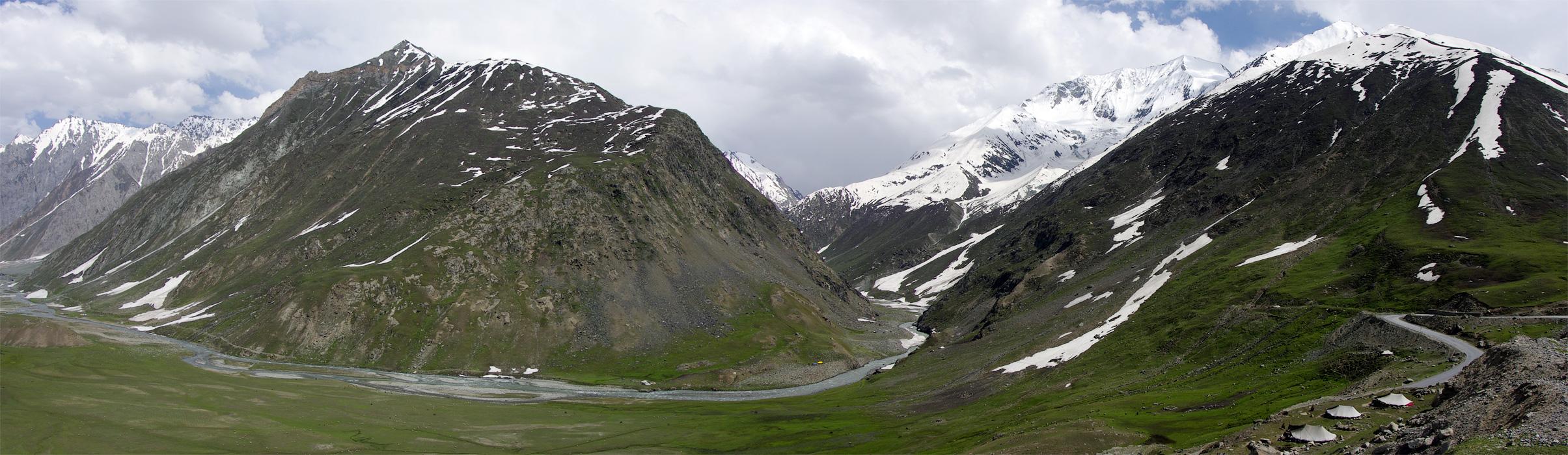 Перевал Зоджи Ла. Ладакх, Индия. Панорамы Гималаев