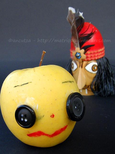 frutta divertente mela divertente