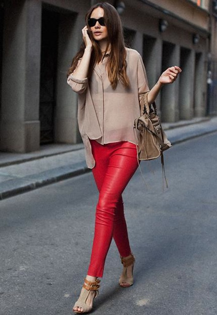 red leather pants street 2
