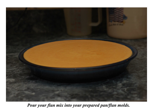 pouring(flan)