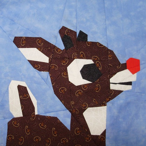 Fandom In Stitches: The Most Famous Reindeer of All : reindeer quilt patterns - Adamdwight.com
