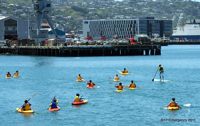 Canoes on Wellington Harbour