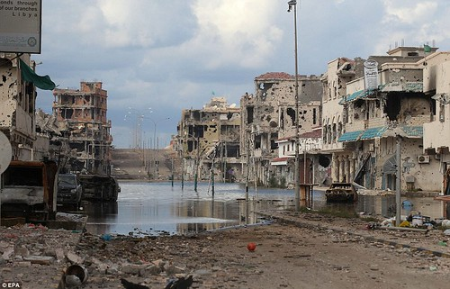 The once beautiful coastal city of Sirte has been destroyed by the United States and NATO along with their puppet rebel bands. The imperialists want Libya as a source of free oil, natural gas and cheap labor. by Pan-African News Wire File Photos