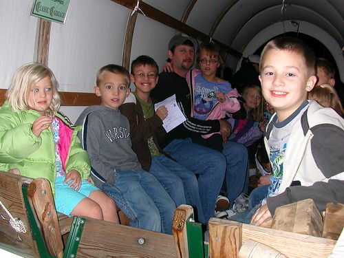 Nov 21 2011 Shanna Cal Haley Clark wagon ride