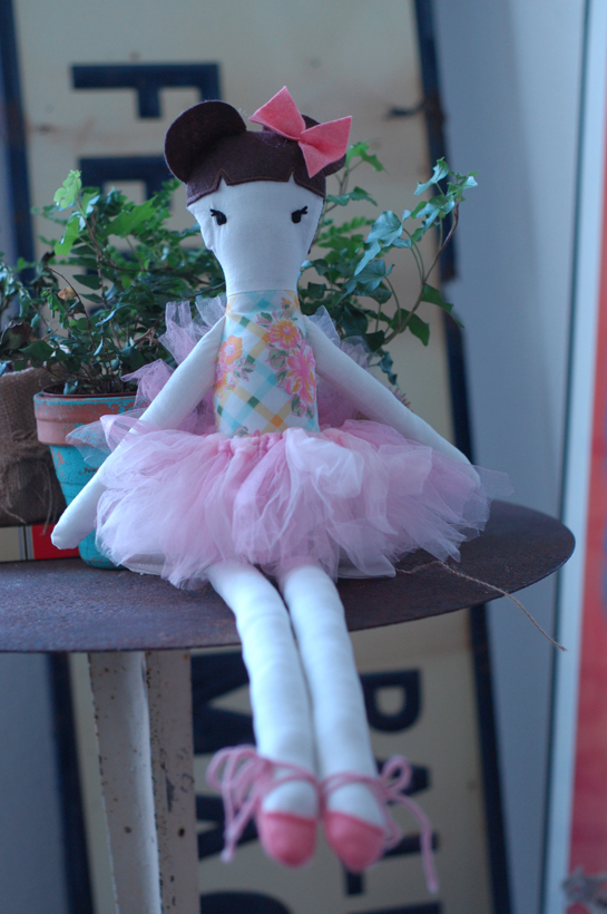 sewn ballerina dolly