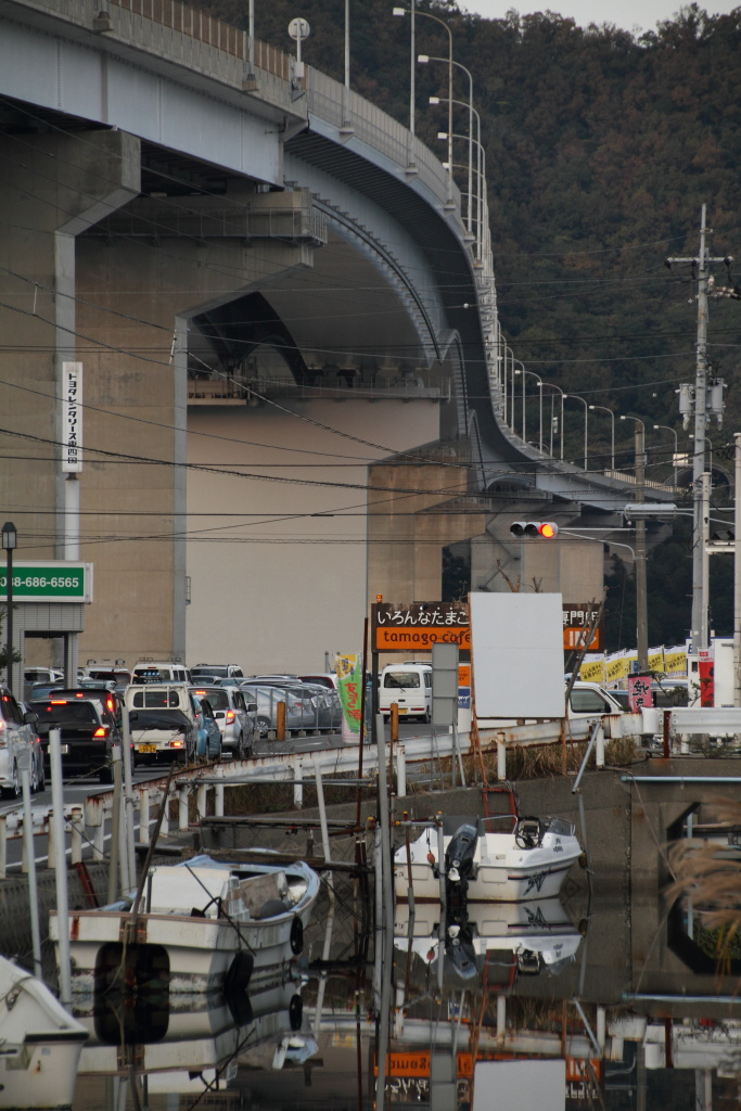 a watercourse and Kobe-Awaji-Naruto Expwy