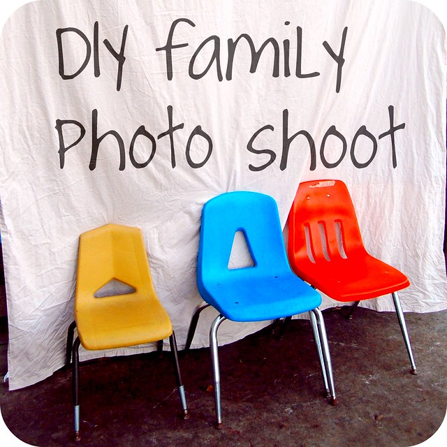 diy family photo shoot