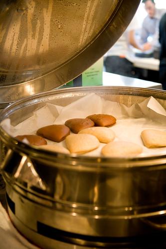 a variety of buns (chocolate, white, wheat, cinnamon sugar) by TAKE A BAO