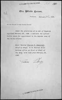 Message of President Calvin Coolidge nominating Charles P. Summer to be General while holding the office of Chief of Staff of the United States Army, 02/26/1929