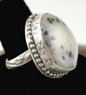 Dendritic Agate Ring - RAW 36/52
